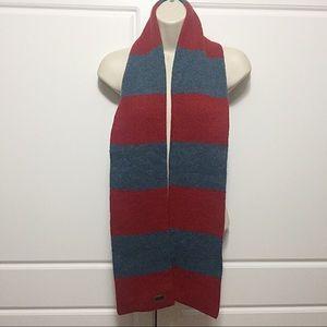 Coach Blue & Red Wool Scarf
